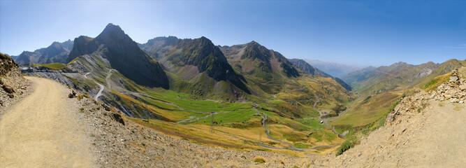 53 Mpx mountain panorama, col du Tourmalet