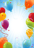 Celebration background with balloons-