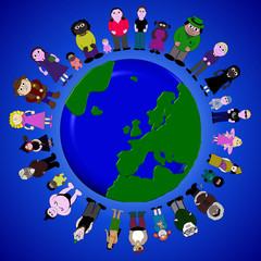 3D Globe The Circle Of Life Comunity