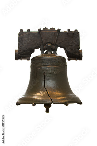 Isolated Liberty Bell in Philadelphia