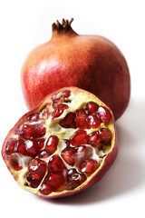 isolated pomegranate