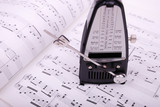 metronome on the sheet music