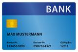 Bank blau poster