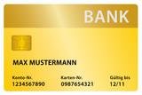 Bank gold poster