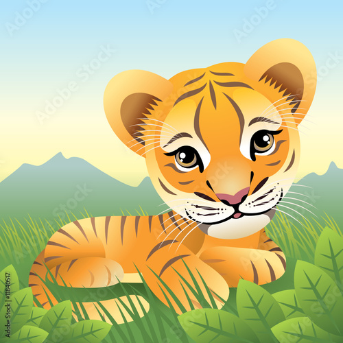 Poster Zoo Baby Animal collection: Tiger. More animals in my gallery.
