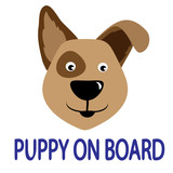 puppy on board poster