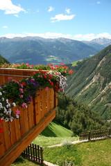 Balkon Terasse Berge Aussicht Panorama