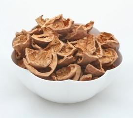 empty nut shells