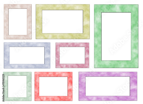 Marbled Multi Frame Page Set - Isolated Clipping Path