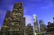 Los Angeles city skyline at twilight