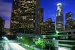 Los Angeles city at twilight