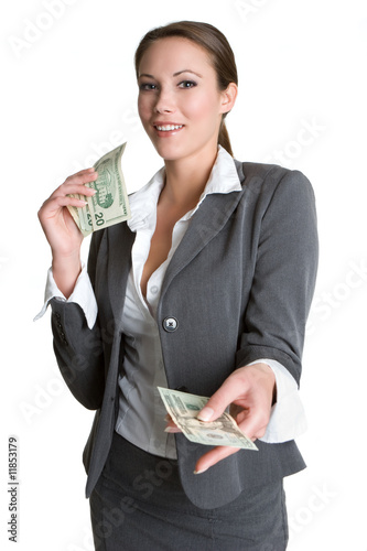 Businesswoman Giving Money