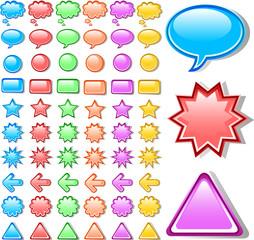 Web button icon symbol