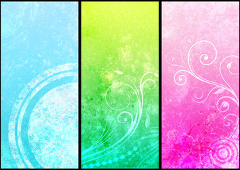 3patterns grunge background