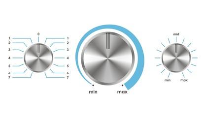 Vecto volume balance knob
