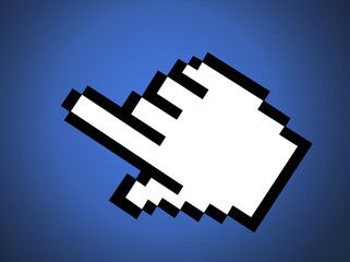 rendered mouse pointer-cursor
