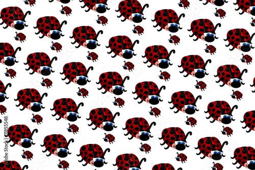 Foto op Aluminium Lieveheersbeestjes Ladybugs Pattern