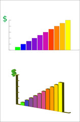 editable vector sales charts