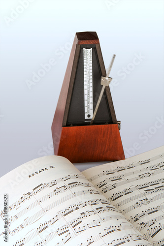 Metronome and sheet music