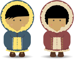 Eskimo / Inuit Boy & Girl
