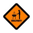 schild grillparty I