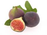 Fototapety Feigen mit Blatt/figs with leaves