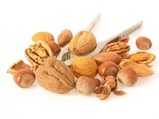Verschiedene Nüsse mit Nussknacker/nuts with cracker