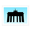 briefmarke (brandenburger tor)