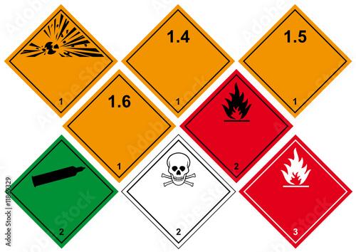 Gefahrenstoff Klasse 1–3