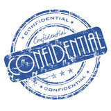Grunge office rubber stamp with the word confidential poster