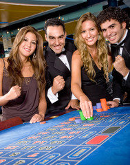 Casino gamblers