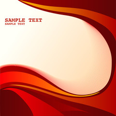 Red abstract background - This image is a vector illustration