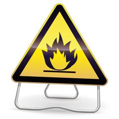 Panneau de danger inflammable (ombre)