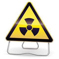 Panneau de danger radioactivité (ombre)
