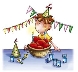 Pollicino compleanno mele