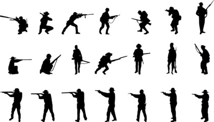 armed silhouettes