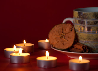 Tea with candles