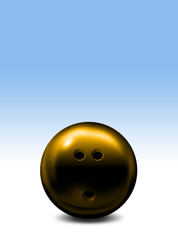 Yellow bowling ball