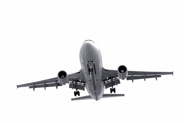 isolated jet aircraft landing