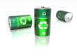 Leinwanddruck Bild - Piles électriques -  recyclable