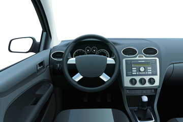 Vector car deshboard and interior