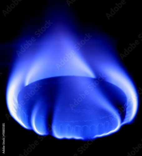 Leinwandbild Motiv blue flame of gas