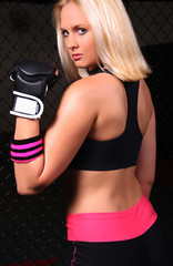 Blonde Cage Girl