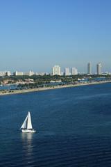 Sailboat in South Beach Miami Florida