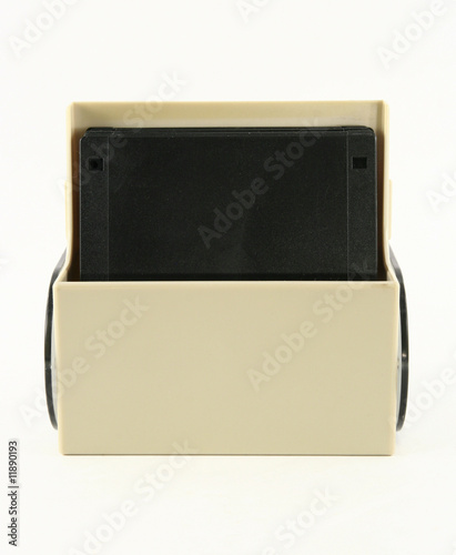 small floppy disk holder front view