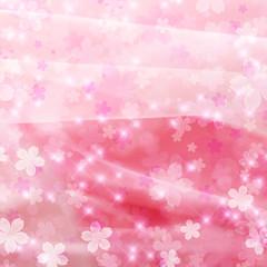 花のイルミネーション ピンク