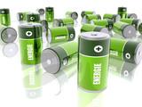 Piles électriques - Energie - Fond Blanc