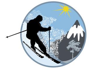 Series of tourism Skier