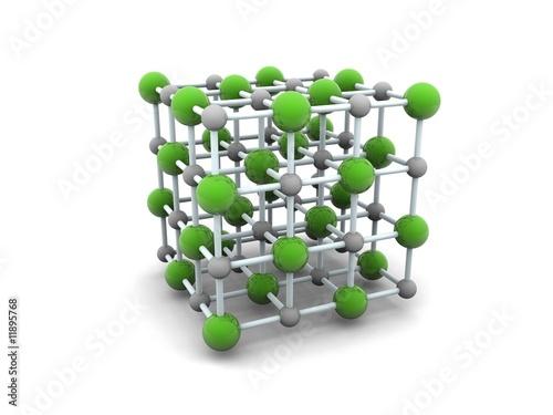 cristal molecular de sal