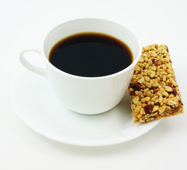 Coffee with power bar
